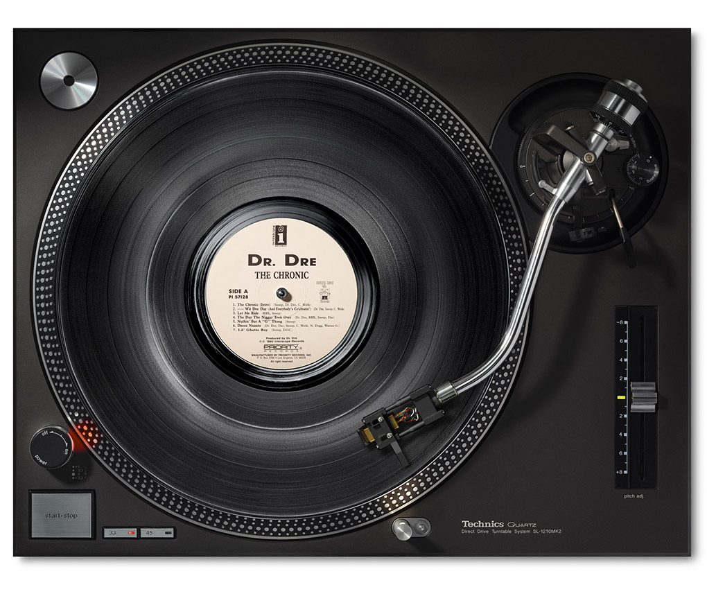 <p>Dr. Dre – The Chronic – on Technics</p> »I'm never gonna stop music, it's like air to me.« <span>Dr. Dre</span>